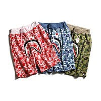Bape Summer Tide Brand Camouflage Shark Sports Casual Pants Couple Shorts F-CP-ZDL-YXC