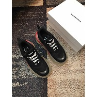 Balenciaga Fashion Cool Edgy Triple S Clear Sole Trainers Wine Red Sneakers Sport Shoes black top quality
