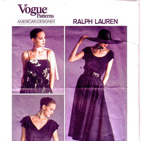 ON SALE Misses Top and Skirt. Vogue Patterns Ralph Lauren / Vintage Sewing Pattern / Vogue 1909 / Bust 36""