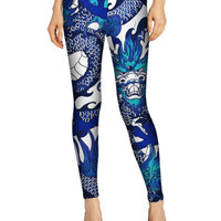 F340 Women Pants Ladies Dragon Pattern Leggings Slim Digital Print Brand Clothes Punk Leggings