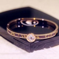 LV Louis Vuitton Fashionable Women Luxury Stainless Steel Bracelet
