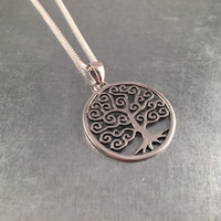 Tree of Life Necklace, Tree of Life, Tree of Knowledge, Sterling Silver Pendant, Gift Necklace