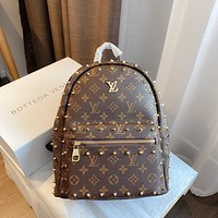 LV Louis Vuitton Retro Classic Presbyopia Women's Willow Nail Backpack Three-Piece Set