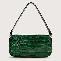 Croc Embossed Baguette Bag Shoulder Bag Crossbody Satchel