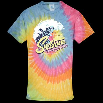 Southern Couture Tie-dye Sunshine & Summertime T-Shirt