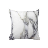 "Gray & White Marble Throw Pillow Cover,Faux Stone Marbled Print 16/20"" Pillows or Covers"