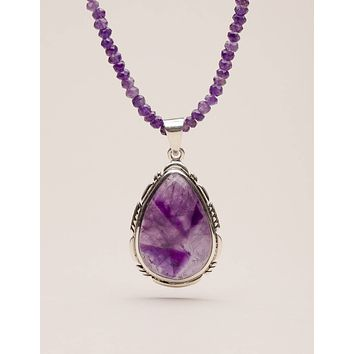 Vintage Amethyst Beaded Necklace - One of a Kind