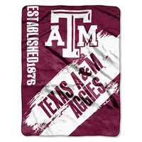 Texas A&M Aggies NCAA Light Weight Fleece Blanket (Painted Series) (50inx60in)