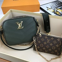 lv louis vuitton women leather shoulder bags satchel tote bag handbag shopping leather tote crossbody 294