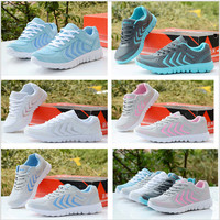 Sneakers white breathable sport running shoes ladies