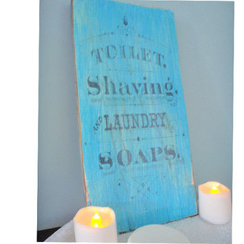 Bathroom sign, bathroom decor, home decor, bath sign, wooden bathroom sign, Vintage ad, laundry room sign,  FREE SHIPPING