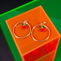 Cherry Darling Hoop Earrings