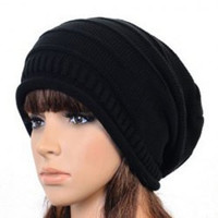 Ruched Solid Color Knit Assorted Color Hat