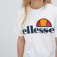 Ellesse Boyfriend T-Shirt With Chest Logo at asos.com