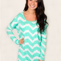 Mint To Be Tunic Top