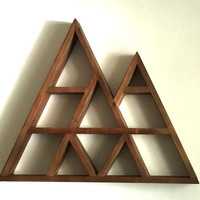 FLASH SALE: Large Rustic Geometric Mountain Shelf