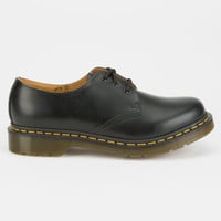 Dr. Martens 1461 3-Eye Gibson Womens Shoes Black  In Sizes