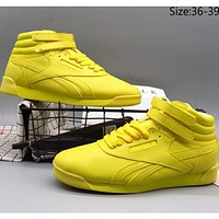 Reebok 2018 Counter Top High-Top Leather Fashion Casual Shoes F-A36H-MY Yellow