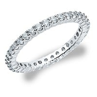 18K White Gold Diamond 4 Prong Eternity Ring (1.5 cttw, H-I Color...