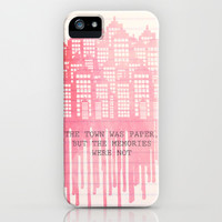 The Town Was Paper iPhone & iPod Case