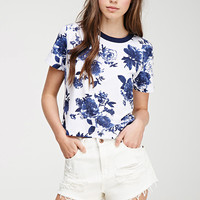 Photofloral Boxy Tee - Clothing - 2000052545 - Forever 21 EU
