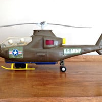 Vintage TOY US Army Helicopter Model Battery Operated 1970s