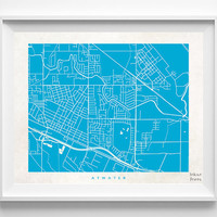 Atwater Map, Atwater Print, Modern Wall Art, California Poster, Office Wall Decor, Bedroom Art, Office Wall Art, Halloween Decor