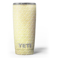Golden Greek Pattern - Skin Decal Vinyl Wrap Kit compatible with the Yeti Rambler Cooler Tumbler Cups