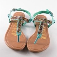 Jeweled Thong Sandals - Blue from Sandals at Lucky 21 Lucky 21