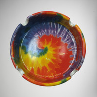 Tye Dye Print Stone Ashtray