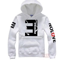 New brand Men's Fleece Hoodies Eminem Printed Thicken Pullover Sweatshirt Men Sportswear Fashion Clothing