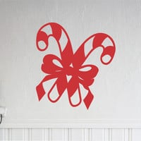 Christmas Candy Canes | Holiday Decal | Vinyl Wall Lettering
