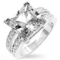 White Princess Engagement Ring, size : 06