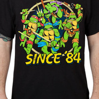 Black Ninja Turtles Attack Shirt