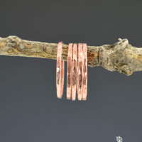 Set of 5 Thin Copper Stackable Rings