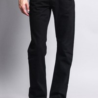 Men's Slim Fit Colored Denim Jeans (Black)