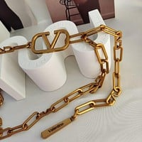 Valentino Fashion all-match lady chain belt