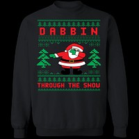 Dabbing Ugly Christmas Sweater