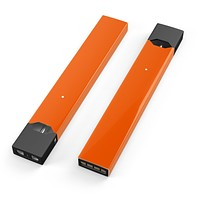 Solid Burnt Orange - Premium Decal Protective Skin-Wrap Sticker compatible with the Juul Labs vaping device