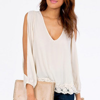 Trimmed Avenues Blouse $36