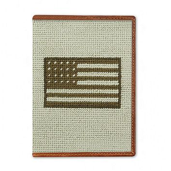 Armed Forces Flag Needlepoint Passport Case by Smathers & Branson