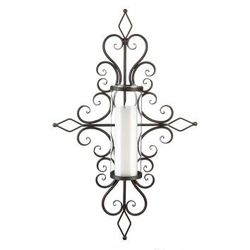 Candle Wall Sconces Flourished Candle Wall Sconce