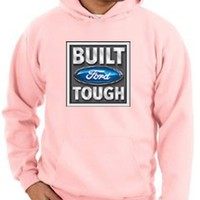 Ford Car BUILT FORD TOUGH Classic Adult Pullover Hooded Sweatshirt Hoodie Hoody - Pink