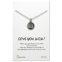 Cassandra Love You Mom Necklace