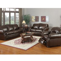 Top Grain Genuine Leather- The Ranchero Living Room Set - Espresso