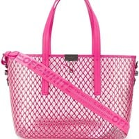 Pink Netted Tote by OFF-WHITE