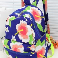 Ethnic Style Painting Flower Backpack
