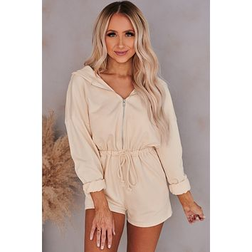 Lifestyle Change Hooded Romper (Ivory)