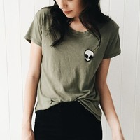 MARGIE ALIEN PATCH TOP