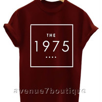 The 1975 shirt the 1975 band t-shirt black white maroon